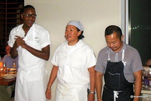 Chefs Gregory Gourdet, Anita Lo and Pichet Ong