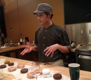 Chef Ryan Roadhouse at the Nodoguro Twin Peaks dinner