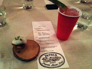 Patria Pop-up with Chef Cristina
