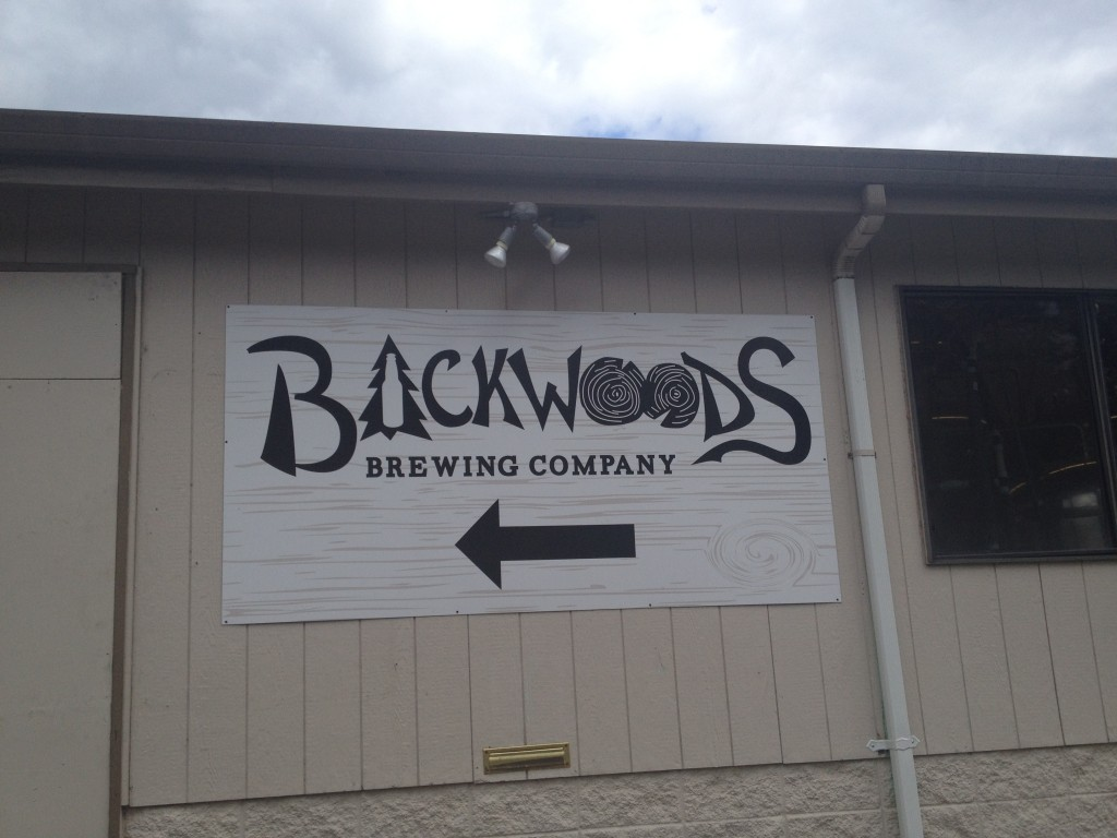 In back of the general store - Backwoods Brewing Company