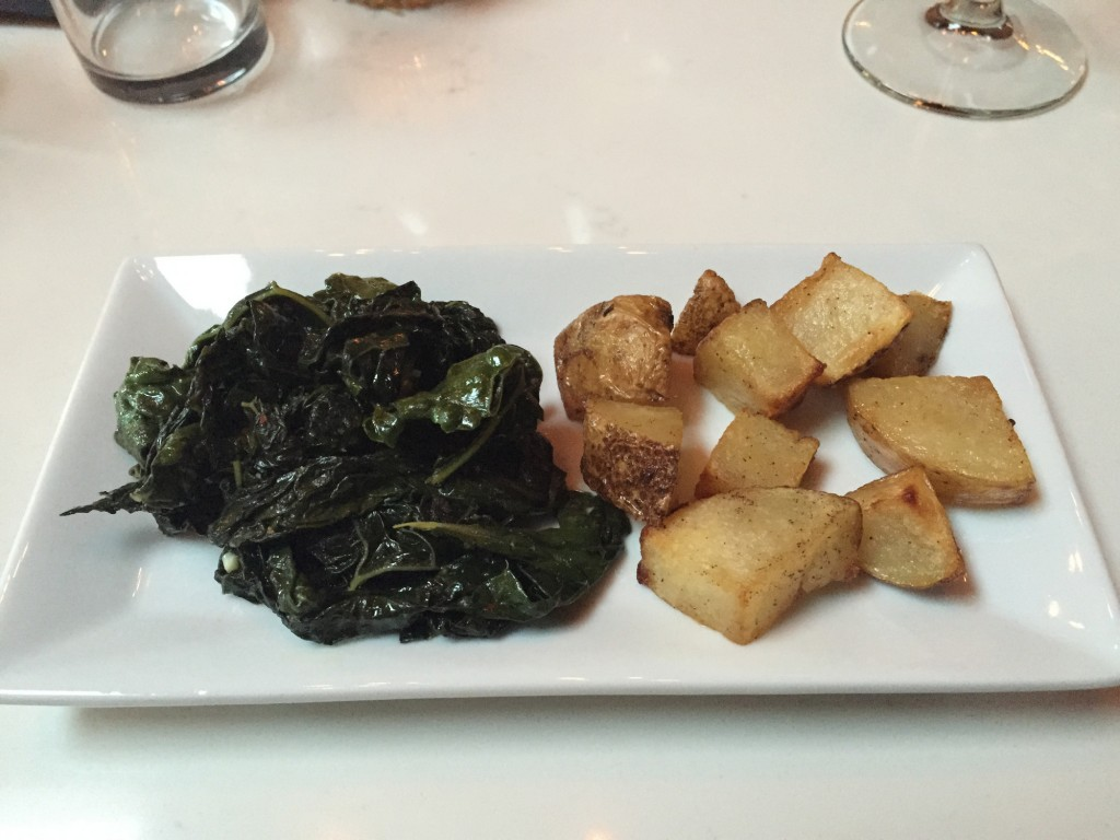 Roasted Potatoes and Kale