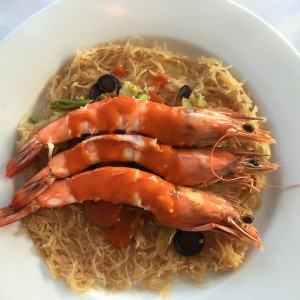 Pancit - Kauai Shrimp with Rice Noodle
