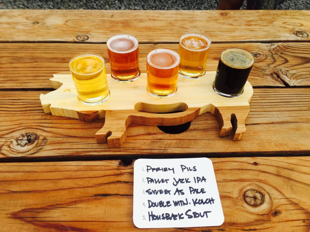 Beer Sampler at Pine Shed