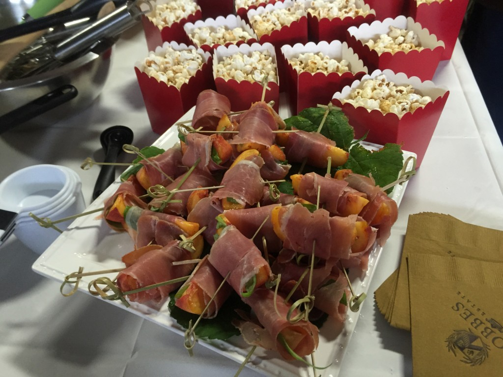 Moroccan-spiced popcorn and proscuitto wraps