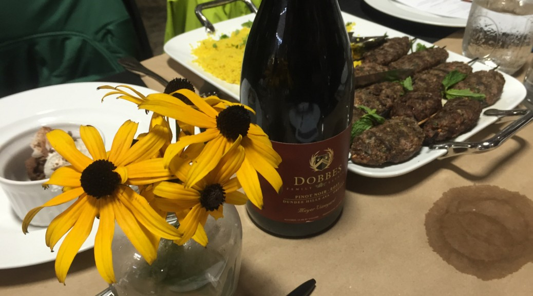 Dobbes Pinot Noir and Lamb Koftka with Couscous