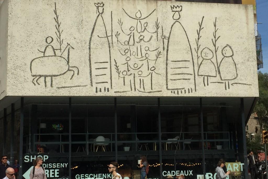 Picasso Frieze on Catalan College of Architecture, Placa Nova