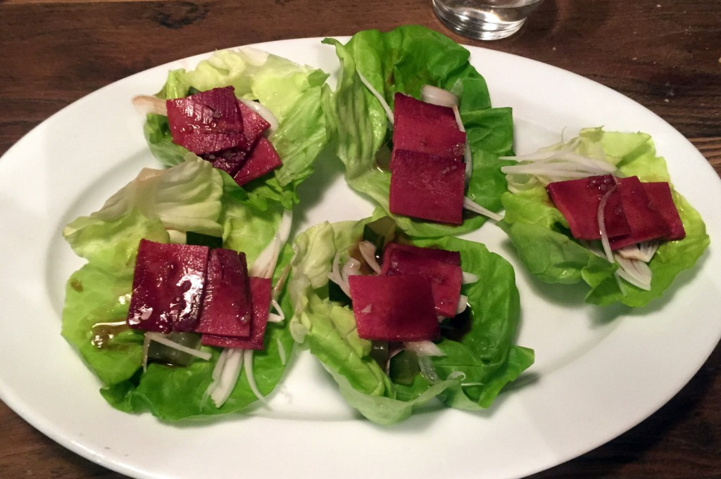 Suculent - Beef tongue lettuce wrap