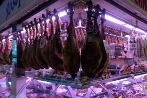 Ham at La Boqueria