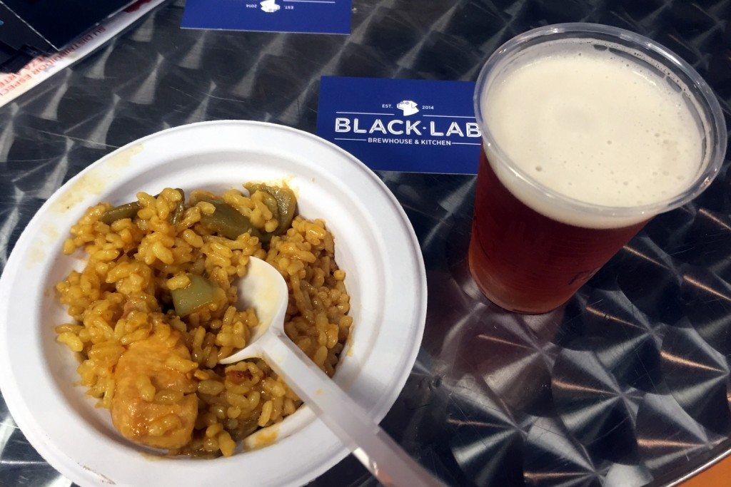 Paella and Beer at Degusta Show