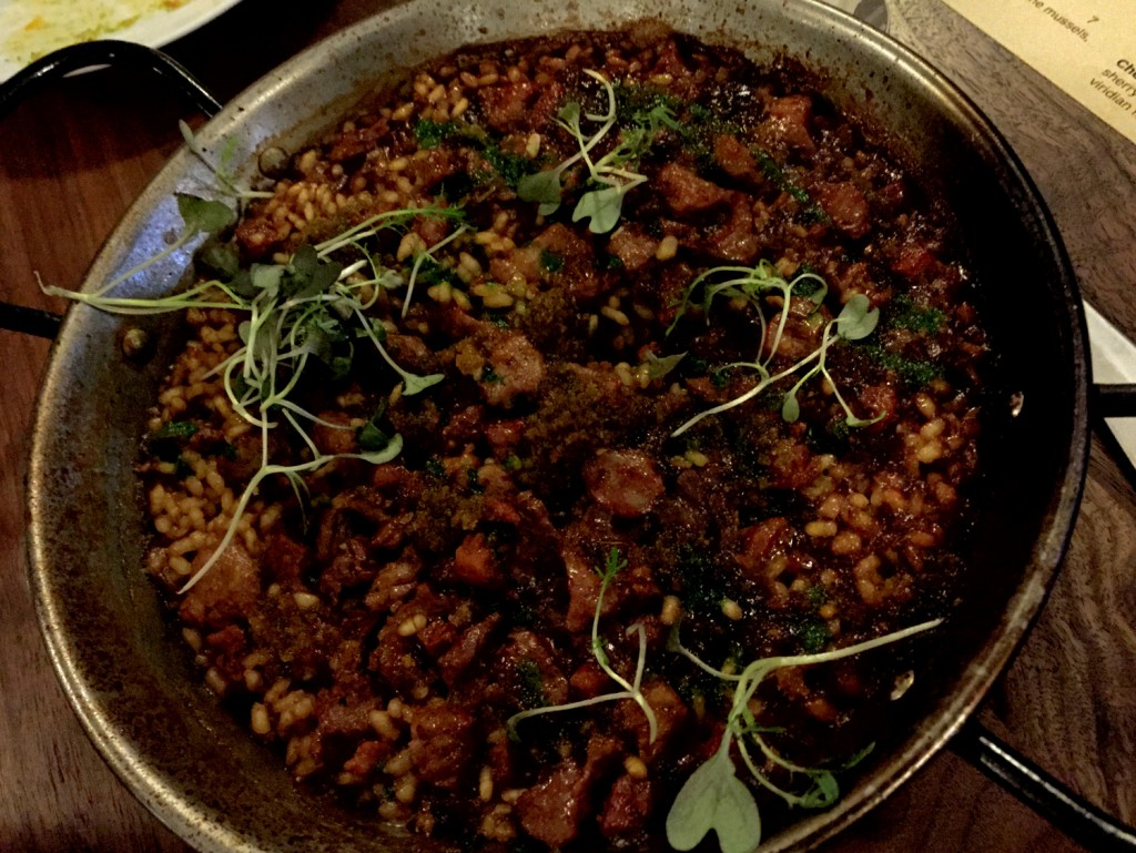 Mallorca paella with Carlton Farms pork shoulder