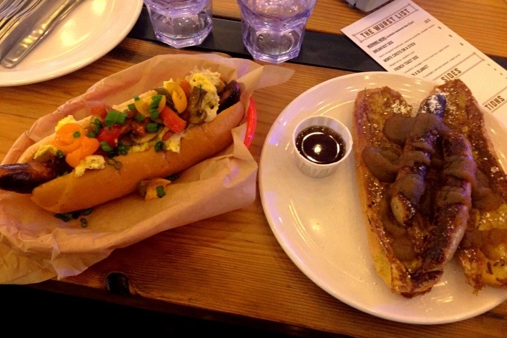 OP Wurst Breakfast Dog and French Toast Dog